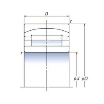 160 mm x 290 mm x 104 mm  NSK 160RUB32APV spherical roller bearings