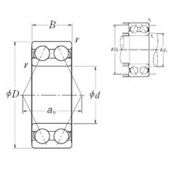 50 mm x 110 mm x 44,4 mm  NSK 5310 angular contact ball bearings