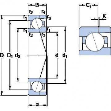 8 mm x 19 mm x 6 mm  SKF 719/8 ACE/P4AH angular contact ball bearings