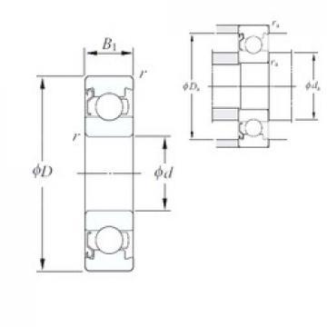 6 mm x 15 mm x 3,5 mm  KOYO 696/1BZ deep groove ball bearings