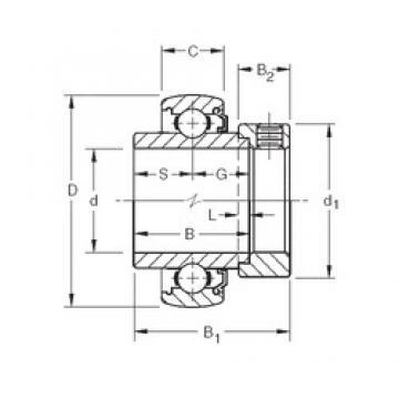 50,8 mm x 100 mm x 55,56 mm  Timken 1200KLB deep groove ball bearings