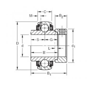 42,8625 mm x 100 mm x 42,86 mm  Timken GN111KLLB deep groove ball bearings