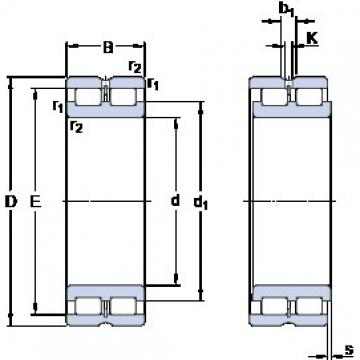 150 mm x 190 mm x 40 mm  SKF NNCL 4830 CV cylindrical roller bearings