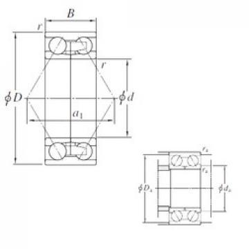 120 mm x 190 mm x 66 mm  KOYO 2AC2419B angular contact ball bearings