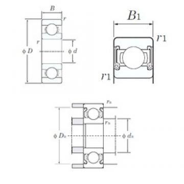 9 mm x 17 mm x 5 mm  KOYO W689-2RD deep groove ball bearings