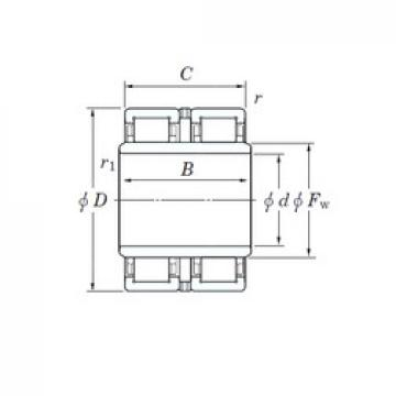 95 mm x 170 mm x 130 mm  KOYO 2UJ1917 cylindrical roller bearings