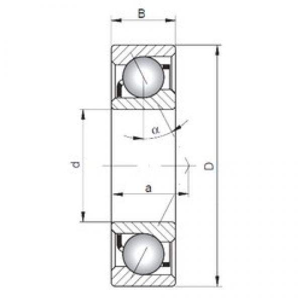 60 mm x 110 mm x 22 mm  ISO 7212 C angular contact ball bearings #2 image