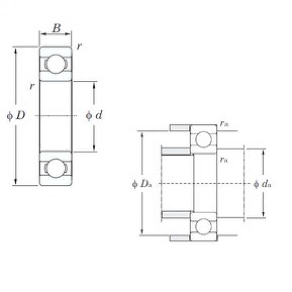 55 mm x 100 mm x 21 mm  KOYO 6211 deep groove ball bearings #2 image