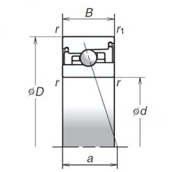 100 mm x 150 mm x 30 mm  NSK 100BER20SV1V angular contact ball bearings #2 image