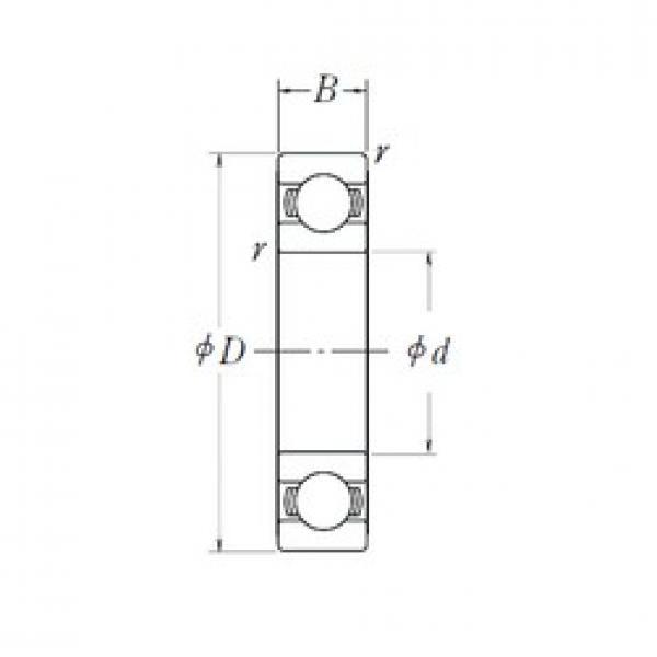 25 mm x 52 mm x 15 mm  NSK 6205L11-H-20DDU deep groove ball bearings #1 image