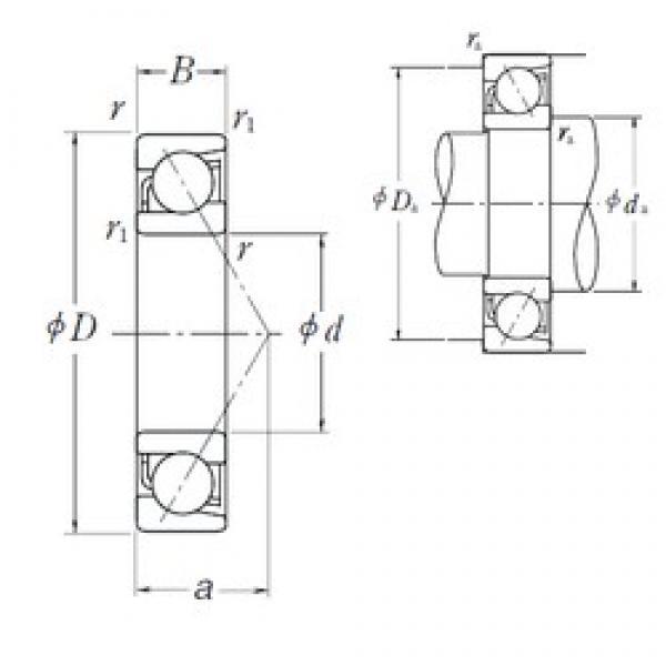85 mm x 150 mm x 28 mm  NSK 7217 B angular contact ball bearings #2 image