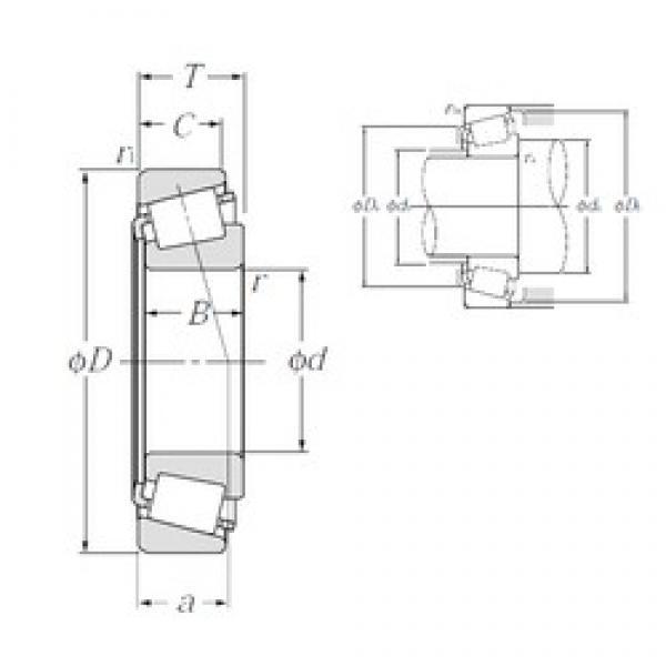 80,962 mm x 136,525 mm x 29,769 mm  NTN 4T-496/493 tapered roller bearings #2 image