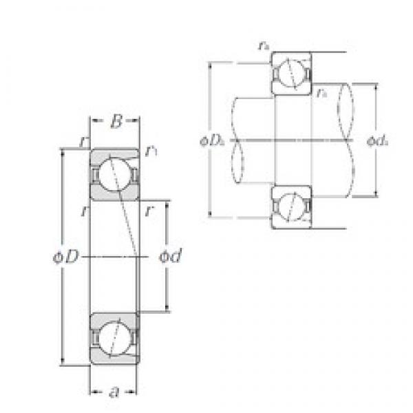 60 mm x 95 mm x 18 mm  NTN 7012 angular contact ball bearings #2 image