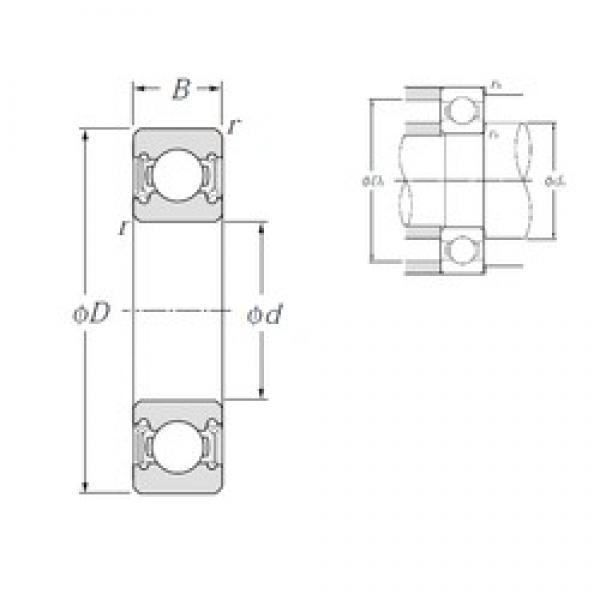 85 mm x 150 mm x 28 mm  NTN 6217LLU deep groove ball bearings #2 image