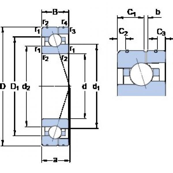 95 mm x 145 mm x 24 mm  SKF 7019 ACE/P4AL angular contact ball bearings #3 image