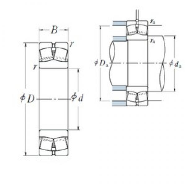 50 mm x 110 mm x 40 mm  NSK 22310EAE4 spherical roller bearings #2 image